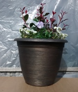Garden Planter Helix Pot 30cm (Black Bronze)