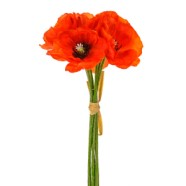 Artificial Poppy Orange
