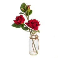 Artificial Red Rose With Vase