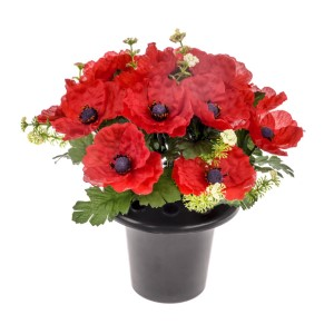 Z Grave Arrangement Poppy 23cm