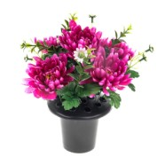 Grave Arrangement Chrysanthemum 26cm