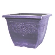 Garden Planter Laurel Square 30cm (Wisteria Purple)