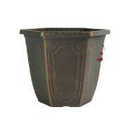 Garden Planter Estate Hexagon 30cm (Black Bronze)