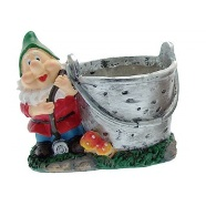 Garden Planter Gnome Bucket (b)