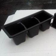Plant Pot 3 Cell  (Pack Of 6 )