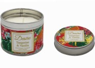 Candle In A Tin Tangerine And Vanilla 8cm