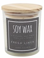 Candle Soy Wax Fresh Linen Scented