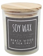 Candle Soy Wax Beach Wood And Salt Scented