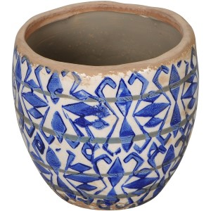 Vase Blue And White Planter 15cm