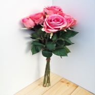 Artificial Luxury Rose Bouquet Pink