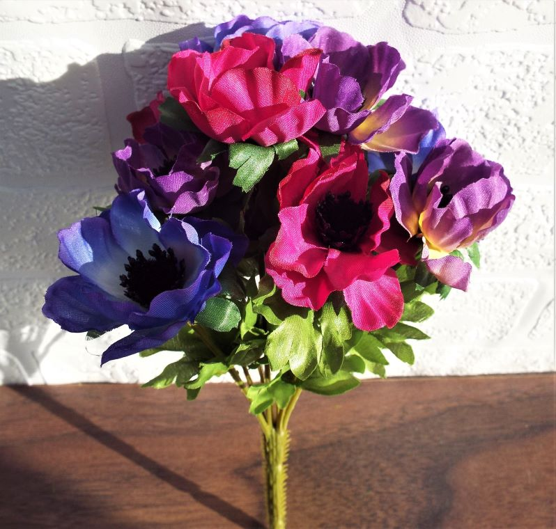 Artificial Anemone Mixed Bouquet