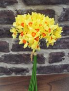 Artificial Daffodil Tete A Tete Flower Bouquet