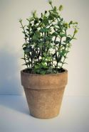 Artificial Potted Plant White Flowers 26cm