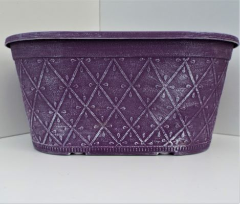 Planter Oval Prism Raisin 30cm