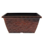 Garden Planter Weave Window Box (Copper) 30cm