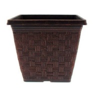 Garden Planter Weave Square Multi Buy (Copper) 3 x 22cm