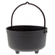 Planter Cauldron 25cm Black