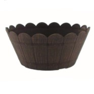 Garden Planter Chestnut Cask Bowl