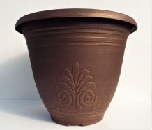 Planter Round Laurel Brushed Penny 30cm