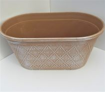 Garden Planter Oval Prism 30cm Powdered Ginger