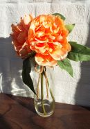 Artificial Peach Peony With Vase