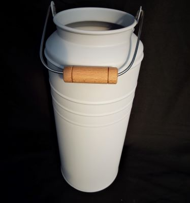 Planter Milk Churn Metal Cream 28cm