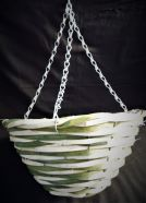Hanging Basket Bamboo Green