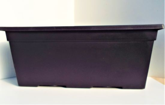 Window Box Leonardo Black 38cm