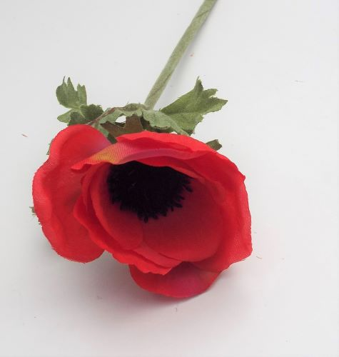 Artificial Anemone Red Single Stem