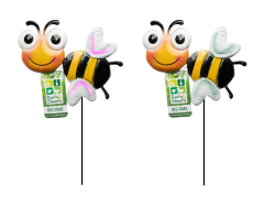 Garden Stake Bee Set Of 2