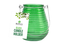 Candle Holder Green Glass 10cm