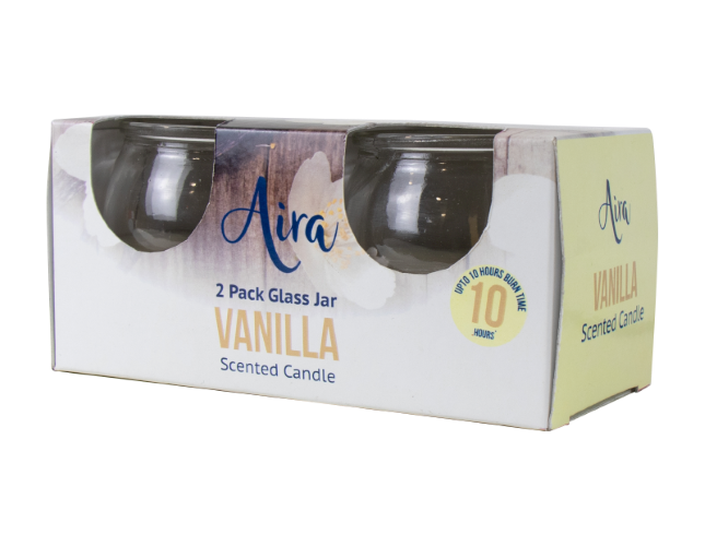 Candle Scented Vanilla 2 Pack