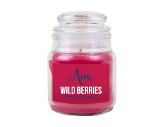 Candle Scented Wild Berries Jar with Lid
