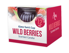 Candle Scented Wild Berries Swirl Jar