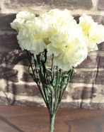 Artificial Carnation White Bouquet