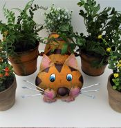 Garden Planter Cat With Pots