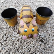 Garden Planter Cat With Flower Pots