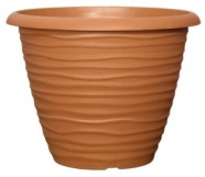 Planter Round Dune Terracotta with Rim 30cm