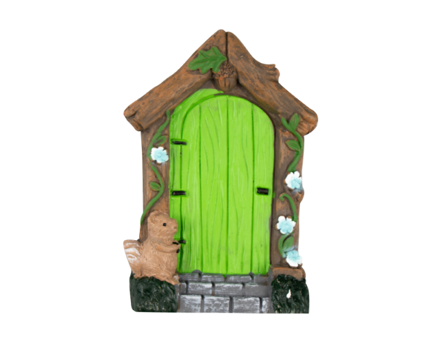 Z Secret Fairy Garden Doors Green