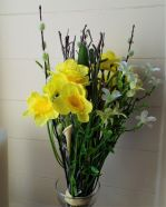 Artificial Flower Daffodil Spring Bundle