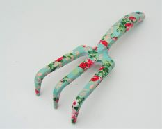 Garden Hand Rake With Rose Print