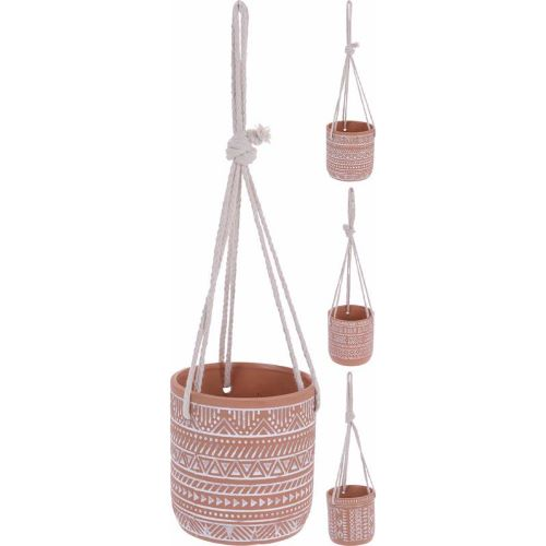 Planter Round Terracotta With Rope