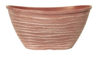 Planter Oval With Rim 51cm Powdered Brick