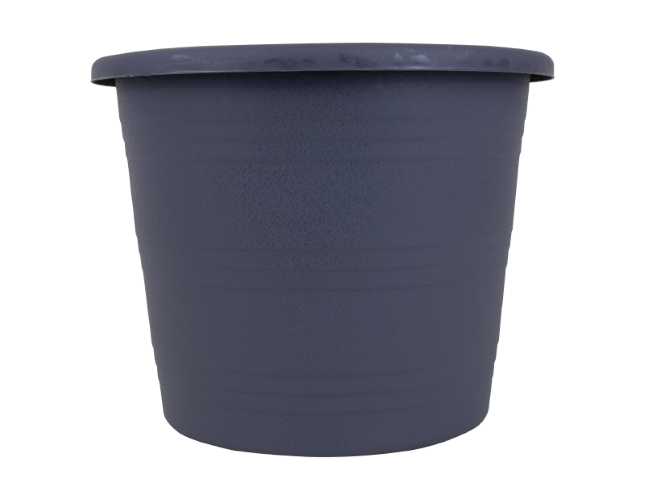 Planter Round Grey Stripe 20cm