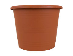 Planter Round Terracotta Stripe 24cm