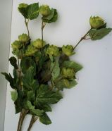 Artificial Flower Hop Spray Green Multi Buy Saver 3 Stems