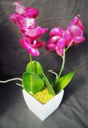 Artificial Fuchsia Pink Orchid With Pot