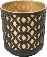 Planter Aztec Black And Gold