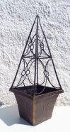 Planter Square Cage Trellis Eclipse 24cm Black Bronze