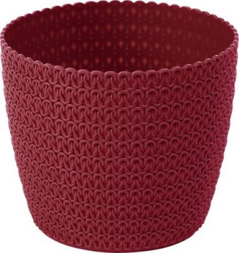 Planter Round Jersey Dark Red